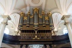Derby Katedralnych organów horyzontalna fotografia Obraz Royalty Free