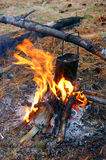 Derby On Campfires Royalty Free Stock Photos