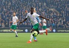 Derby przy Szwedzkiej piłki nożnej filiżanki kwartalnymi finałami między Djurgarden vs Hammarby zdjęcie royalty free