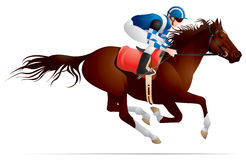Derby, Reitersportpferd und Mitfahrer 3 Stockbild