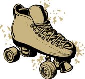 Derby Roller skates drawing Stock Photos