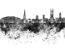 Derby skyline in black watercolor. Background Royalty Free Stock Photography