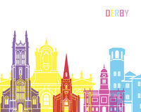 Derby skyline pop. In editable vector file Royalty Free Stock Photo