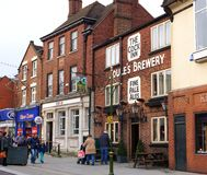 Derby Street purjolök, Staffordshire, England Royaltyfri Foto