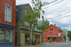 Derby Street, Salem, Massachusetts stock afbeelding