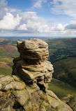 Derbyshire. On Sunday day looking down the vally to Edale from the top of Kinder Scout Royalty Free Stock Images