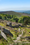 Derbyshire fait une pointe le bord Angleterre de Stanage photographie stock libre de droits