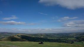 Derbyshire-Hintergrund Stockfotografie