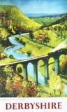 Derbyshire kolei ogłoszenie obraz royalty free