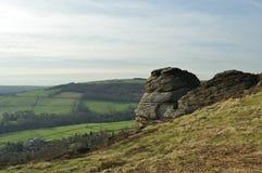 derbyshire krawędzi froggatt skały Obrazy Royalty Free