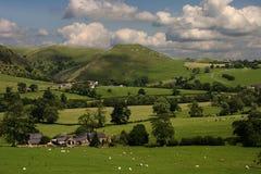 Derbyshire-Landschaft Lizenzfreies Stockfoto