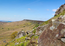 Derbyshire Peaks Stanage Edge England Stock Photos