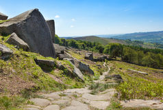 Derbyshire Peaks Stanage Edge England Stock Image