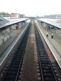Derbyshire stationsrailtracks Royaltyfri Foto