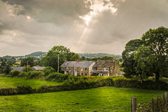 Derbyshire stugor Arkivfoto