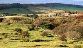 Derbyshire-Täler nähern sich Buxton Stockfoto