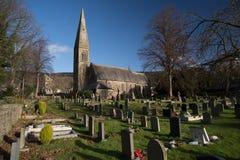 Derbyshire village cemetery graveyard England Royalty Free Stock Photos