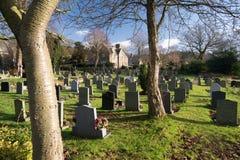 Derbyshire village cemetery graveyard England Stock Images