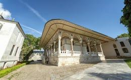 Derde Binnenplaats bij Topkapi-Paleis, Istanboel, Turkije stock afbeelding