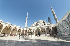 Derde Binnenplaats bij Topkapi-Paleis, Istanboel, Turkije royalty-vrije stock foto's