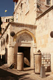 Derde post via Dolorosa, Jeruzalem, Israël Stock Afbeeldingen