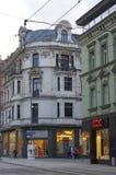derde van Mei-straat in Katowice, Polen Stock Foto's