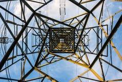 Derecho encima de la torre del poder Fotografía de archivo libre de regalías