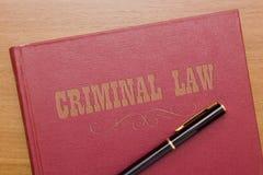 Derecho penal Fotografía de archivo libre de regalías
