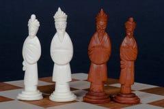 Derechos chinos del conjunto de ajedrez Imagen de archivo
