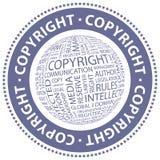 DERECHOS DE AUTOR Imagen de archivo libre de regalías