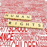 Derechos humanos Foto de archivo libre de regalías