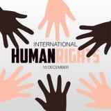 Derechos humanos día, cartel, citas, plantilla Fotografía de archivo