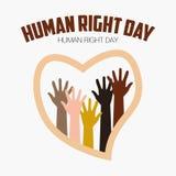 Derechos humanos día, cartel, citas, plantilla ilustración del vector