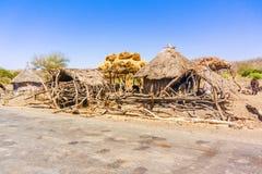 Derek Abay, Dorf in Äthiopien Lizenzfreie Stockfotos