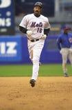 Derek Bell hits a home run. Stock Photo