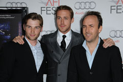 Derek Cianfrance,Mike Vogel,Ryan Gosling Stock Photos