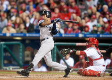 Derek Jeter. Shortstop, New York Yankees batting in Philadelphia Royalty Free Stock Photo