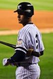 Derek Jeter avec 'bat' Images stock