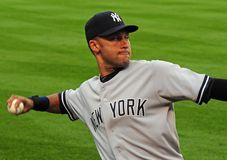 Derek Jeter, de Yankees van New York Stock Afbeelding