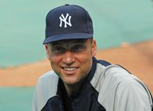 Derek Jeter, ianques de New York Foto de Stock