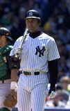 Derek Jeter New York Yankees. Derek Jeter of the New York Yankees playing at Yankees Stadium Royalty Free Stock Photo