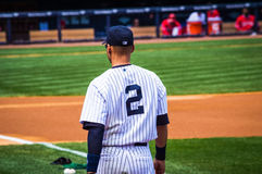 Derek Jeter Number 2 Photographie stock libre de droits