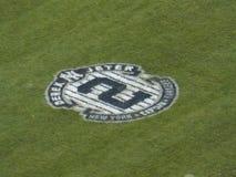 Derek Jeter Number 2 pintado no campo do Yankee Stadium Foto de Stock