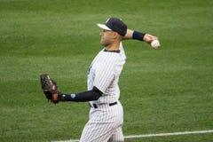 Derek Jeter- NY Yankee Arkivfoton