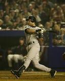 Derek Jeter, 2000 Wereldreeks Stock Fotografie