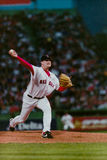 Derek Lowe, les Red Sox de Boston Photos libres de droits