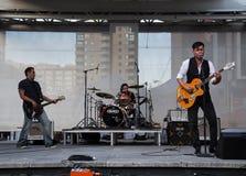 Derek Miller performing at Yonge Dundas Square in Toronto Royalty Free Stock Photo