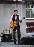 Derek Miller performing at Yonge Dundas Square in Toronto Stock Images