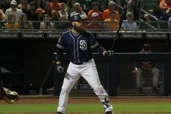 Derek Norris. Catcher for the San Deigo Padres at Peoria Stadium in Peoria,AZ 3,17,16 stock image