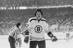 Derek Sanderson in front of the net Royalty Free Stock Image